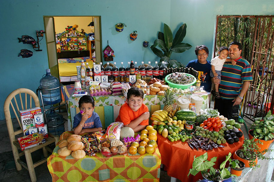 Mexico, Cuernavaca: The Casales family spends around $189 per week.
