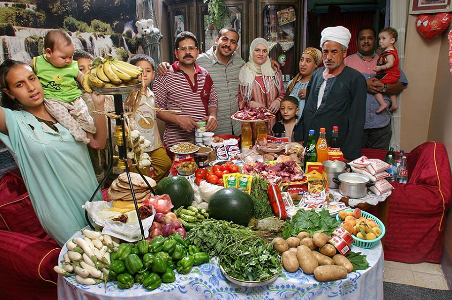 Egypt, Cairo: The Ahmed family spends around $78 per week.