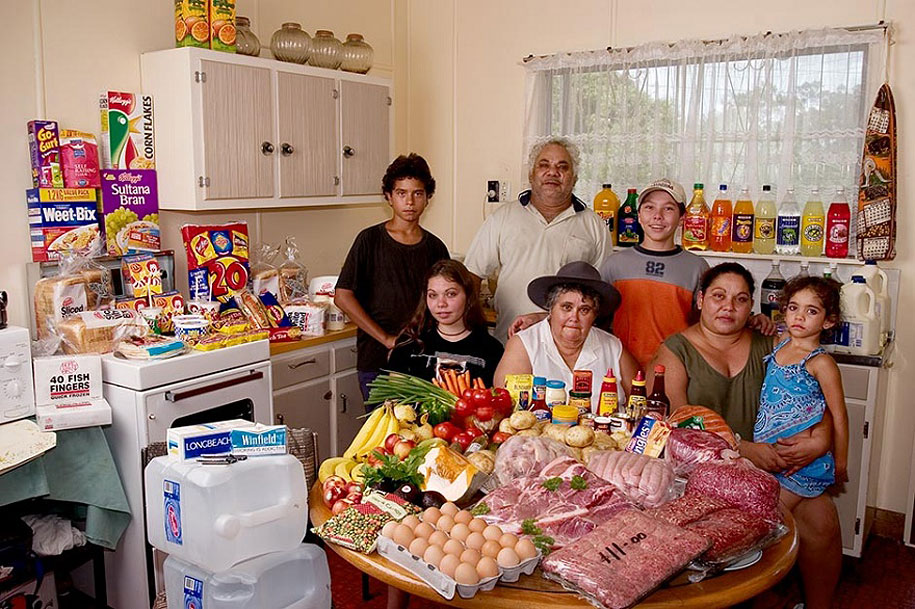 Australia, Riverview: The Brown family spends around $428 per week.