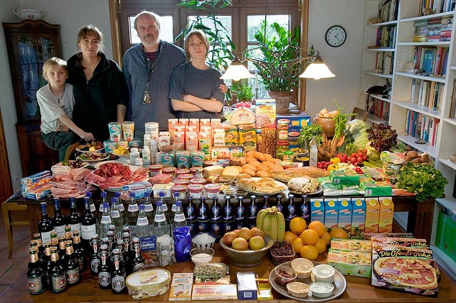 Germany, Bargteheide: The Melander family spends around $568 per week.