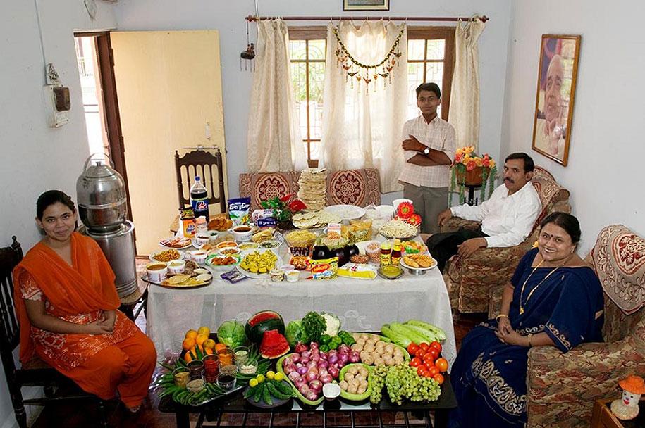 India, Ujjain: The Patkar family spends around $45 per week.