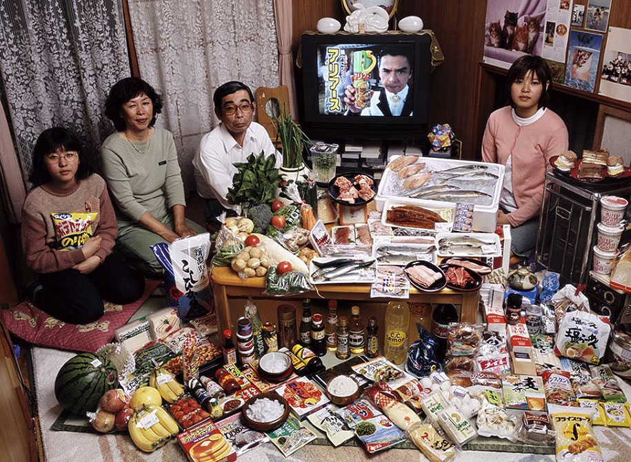Japan, Kodaira City: The Ukita family spends around $361 per week.