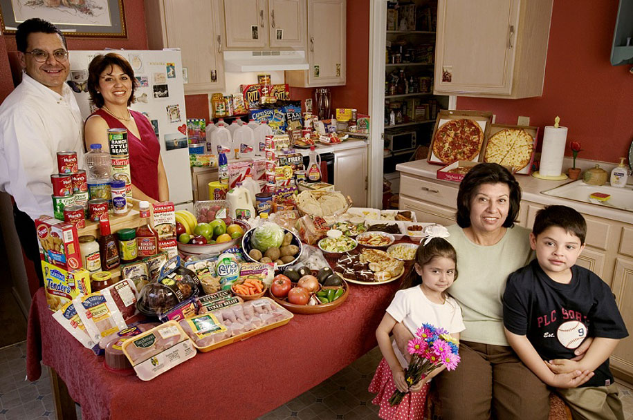 USA, Texas: The Fernandezes family spends around $242 per week.