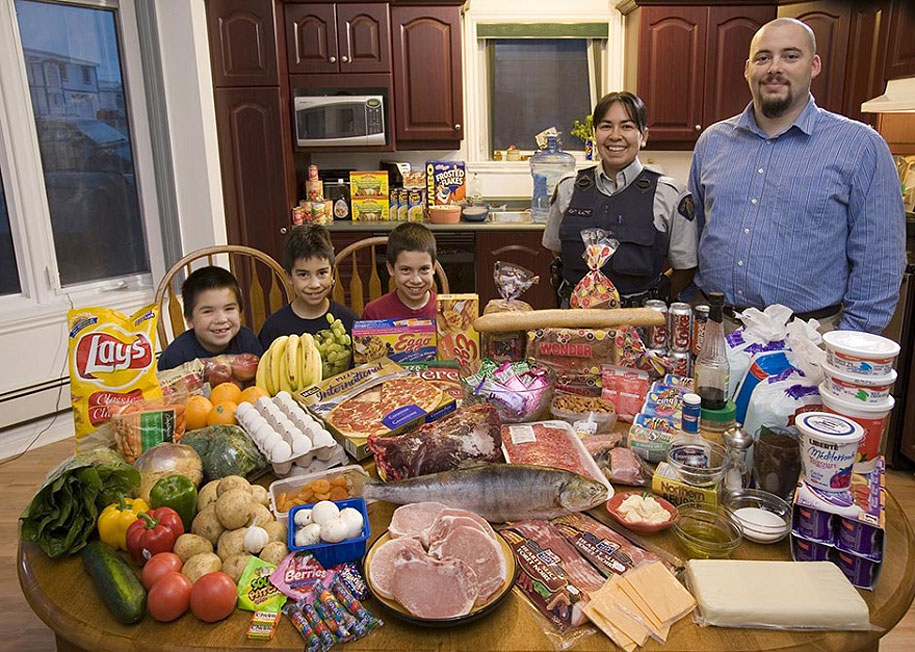 Canada, Iqaluit: The Melanson family spends around $392 per week.
