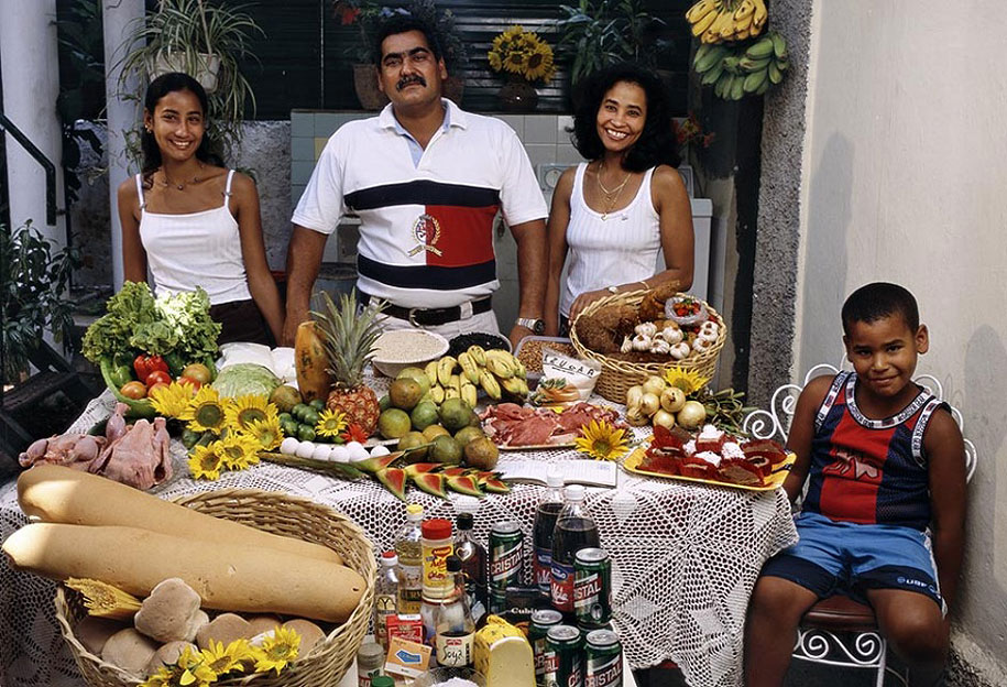 Cuba, Havana: The Costa family spends around $64 per week.
